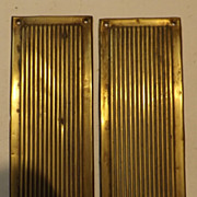A Pair of Victorian 'Ribbed' Push Plates