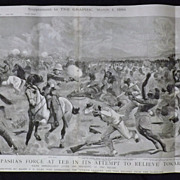 The Defeat of Baker Pasha's Force -The Graphic  1884