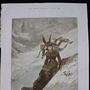 CUPID Tobogganing'  -The Graphic 1880