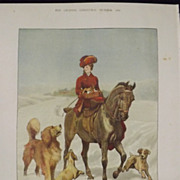 On An Errand Of Charity -Christmas Morning - The Graphic 1880