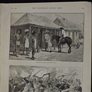 A Store In Swaziland - Illustrated London News 1889