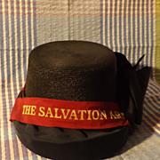 Vintage Salvation Army Ladies Woven Bonnet