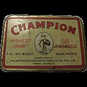 Tobacco Tin 'Champion' Cut Tobacco - Australia