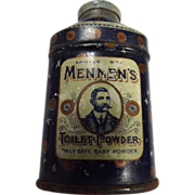 Mennen's Toilet Powder Full  Sample Tin -Circa 1910