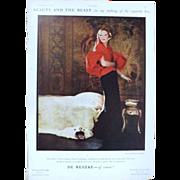 Art Deco 'DE RESKE Cigarettes' Advertisement  - The Sphere 1936