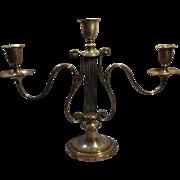 Elegant Old Lyre Shaped Candelabra - Early 1900's
