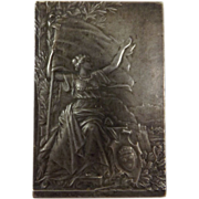 French Bronze Plaquette' 18th Concours Nationale De Tir XI e Fete'