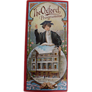 Theatre Programme 'The Oxford' - London - 1910 - 1920