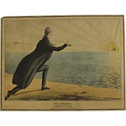 English Political Cartoon 1830 'The Cheber Worshipping The Rising Sun''