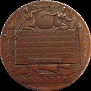 Christopher Columbus 1892 -1893 Exposition Bronze Medallion