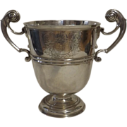SALE HUGE George II Irish Sterling Silver Trophy Cup Circa 1730-1740
