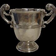 SALE HUGE George II Irish Sterling Silver Trophy Cup Circa 1730-1740