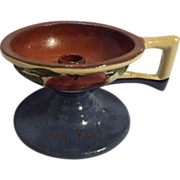 SOLD Torquay Pottery Motto Ware Candle Holder