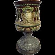 Italian Majolica Urn Vase - Circa 1900-1920