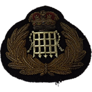 British H.M. Customs Cap Insignia