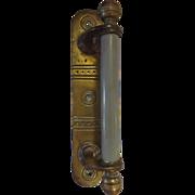 Art Deco Door Pool in Brass & Plastic