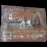 SALE Mexican Folk Art RETABLO - Ex Voto - Circa 1920