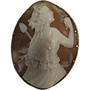 SOLD Gorgeous Old Cameo Set in 8 Carat Gold - Circa 1900