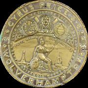 Cyrus Price & Co Large Safe Name Plate - Circa 1888