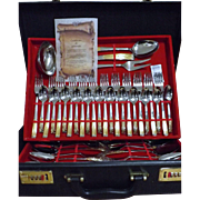 Boxed Cutlery Set By Inoxpran  - Italy - Stainless Steel with 24 Carat Gold Embellishments to
