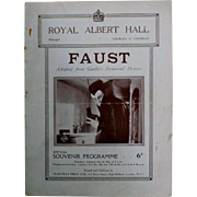 "Theatre Program ""Royal Albert Hall"" London 1927"