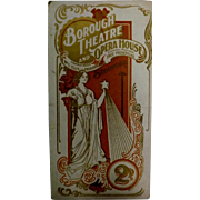 "Theatre Program ""Borough Theatre and Opera House"" Stratford Circa 1920"