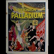 "Theatre Program ""The Palladium"" London 1933"