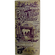 "Theatre Program ""Palace Theatre of Varieties""Croydon London 1901"