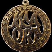KIA ORA 9 Carat Gold New Zealand Pendant