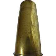 Turkish Trench Art Cannon Shell  WW ONE  Dated August 1915