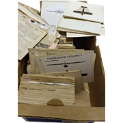Spotters Box Lot of Royal Observer Corps Aeroplane Identification Cards - WWII