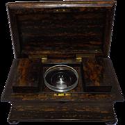 SOLD A Splendid Georgian Sarcophagus Tea Caddy in Calamander Wood