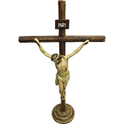 Superb Peruvian 'Paris Gesso' Deco Crucifix - Circa 1930-1940