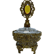 Ornate FRENCH Filigree Parfum Bottle