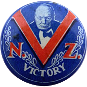 Winston Churchill World War II New Zealand Victory Badge