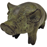 Adorable Bronze Pig