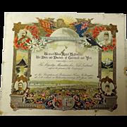 RARE 1901 Parliamentary Invitation to Meet The Duke & Duchess of Cornwall - Wellington, New ..