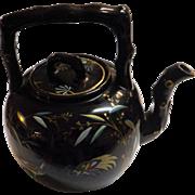 Art Deco Pottery Tea Pot With Orient Influence - Circa 1920 -1930's