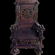 Tudor Gothic Style Model Chair