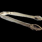 Hester Bateman Sterling Silver 'Bright Cut' Sugar Tongs - Georgian Mid 1700's