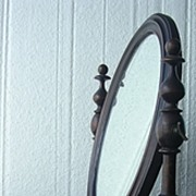 Superb Victorian Shaving Mirror With Candle Sconces