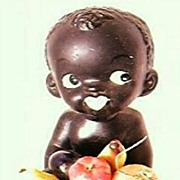 SOLD Vintage Black Baby Ornament 1950's-60's