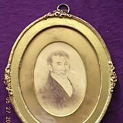 Petite Victorian Carte De Visite's in Oval Frames