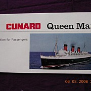 Cunard Liner Queen Mary Passenger Information Booklet 1967