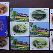 """Vintage Railways Playing Cards """"Southern Pacific Line"""" Circa 1920's"""
