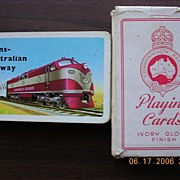 "Vintage Card Back "" Trans Australian Railways"""