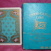 Vintage Union Castle Line Shipping Playing Cards