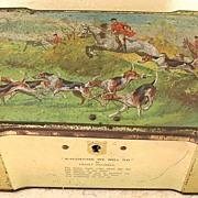 "Vintage British ""CLARINCO"" Sweets Hunting Scene Tin"