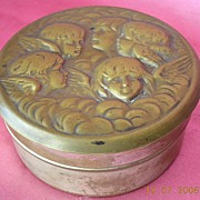 Victorian Period Angels Pin Container
