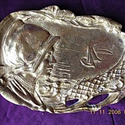World War Two Belgium Commemorative Brass Dish